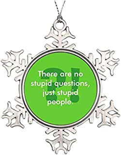 PotteLove Personalized Family Christmas Snowflake Ornaments Stupid People Snowflake Ornaments Canada Funny