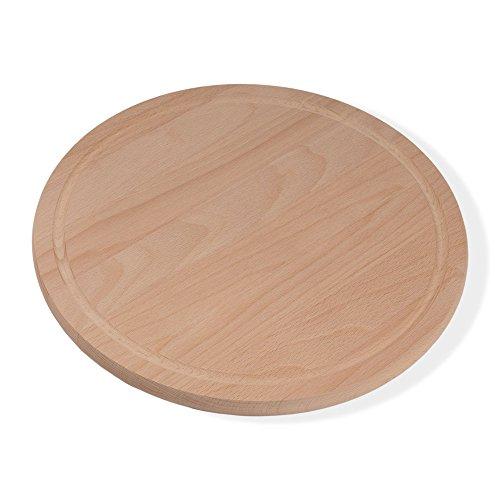 Holzsysteme24 Pizzabrett, Durchmesser 36 cm, 1,9 cm dick