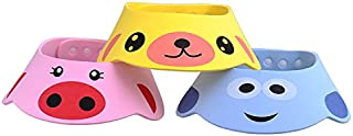 2pcs ajustable bebé sombrero infantil niños champú baño gorro de ducha lavar pelo visera Shield directa Caps Color al azar