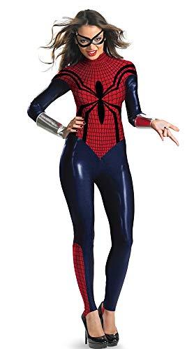 Halloween Masquerade, Spider-Man Panty Set voor Vrouwelijke Volwassenen, Halloween Carnaval, Cosplay Kostuums M Redspider