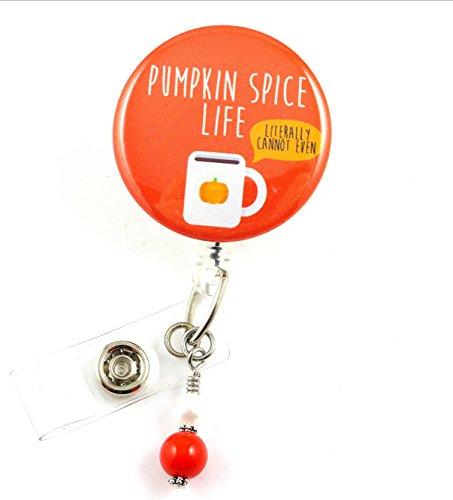 Pumpkin Spice Life - Nurse Badge Reel - Retractable ID Badge Holder - Nurse Badge - Badge Clip - Badge Reels - Pediatric - RN - Name Badge Holder