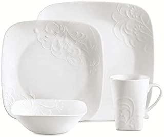 Corelle Boutique Square Cherish 16-Piece Dinnerware Set, Service for 4