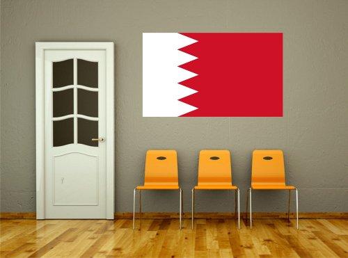 Kiwistar Wandtattoo Sticker Fahne Flagge Aufkleber Bahrain 80 x 48cm