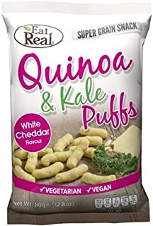 Eat Real Quinoa Kale Puffs Cheese Flavour 113g (Pack of 12)