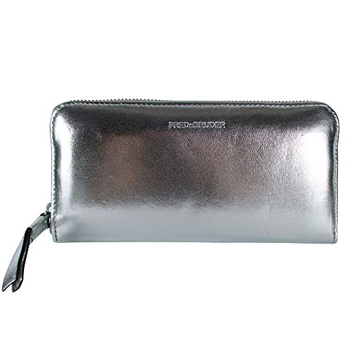 FREDsBRUDER Damen Portemonnaie Wallet Tawny Silber One Size