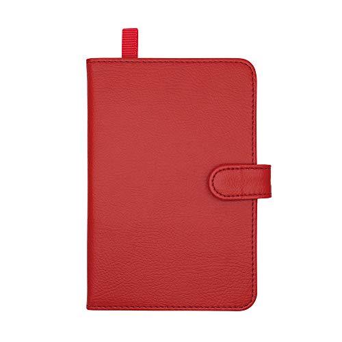 アイメディア 薄型カードケース 2つ折りカードケース ワインレッド 24枚 収納 レザー調 カード入れ クレジットカードケース 定期入れ パスケース 名刺ケース 男女兼用