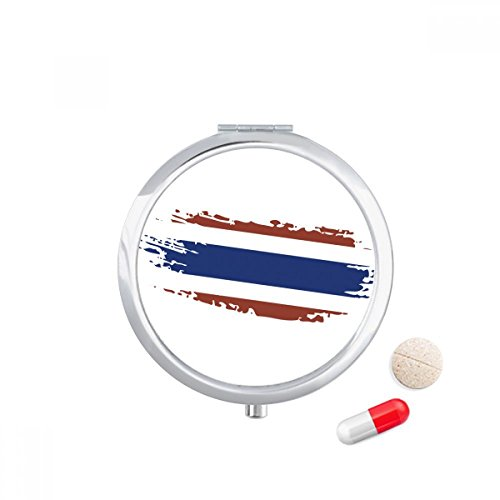 DIYthinker Thai Bangkok Thailand Vlag Art Illustratie Reizen Pocket Pill case Medicine Drug Storage Box Dispenser Spiegel Gift