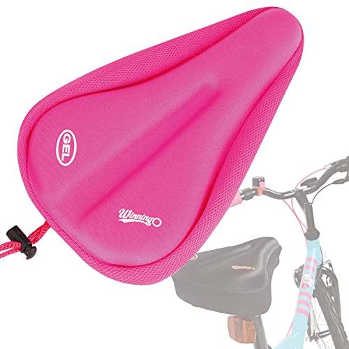 winningo Kind Bike Gel Sitzkissen für die meisten bequem klein Fahrrad Sattel Pad Kinder (Pink)