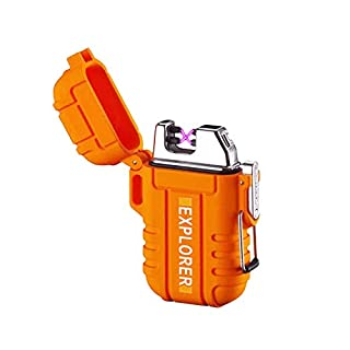 Plasma Lighter Waterproof Windproof Electronic Dual Arc USB Rechargeable flameless Lighter Fashion Orange Design for Outdoor Camping EDC Survival Tactical in Gift Box (B086GWGPBC)   Amazon price tracker / tracking, Amazon price history charts, Amazon price watches, Amazon price drop alerts