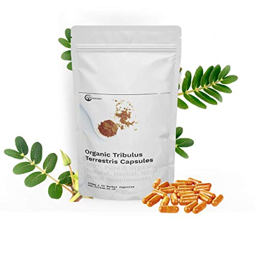 Niikam Tribulus Terrestris High Strength 60 Vegan Capsules 100% Natural and Organic High Potency