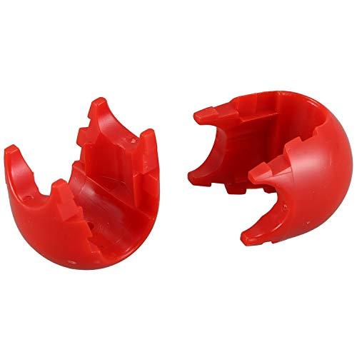 Jaimenalin 10Pcs Cuerda de Escalada Red Conector de PláStico Hebilla de Red Accesorios de Escalada para Columpios de Escalada Al Aire Libre Piezas de Cuerda Roja