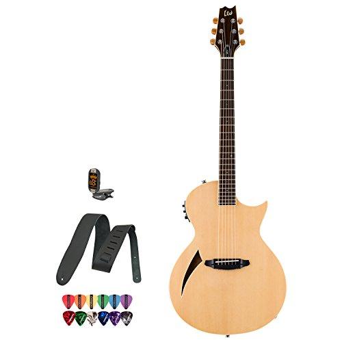 esp acoustic guitar pickups ESP LTD ARC-6 Natural Acoustic Electric Guitar w/Accessories