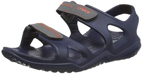 Crocs Swiftwater River Sandal Men, Punta Aperta Uomo, Blu (Navy/Slate Grey 4he), 45/46 EU