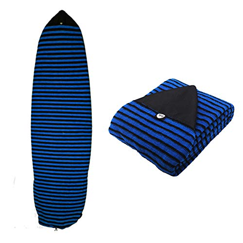 Ultrafun Surf Board Sock Cover Strentch Knit Point Nose Surfboard Sock Bag 6ft/6.6ft/7ft/8ft