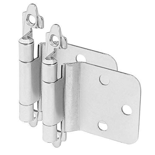10 Pair Pack - Cosmas 16890-SN Satin Nickel Cabinet Hinge Variable Overlay with 30 Degree Reverse Bevel (Pair) [16890-SN]