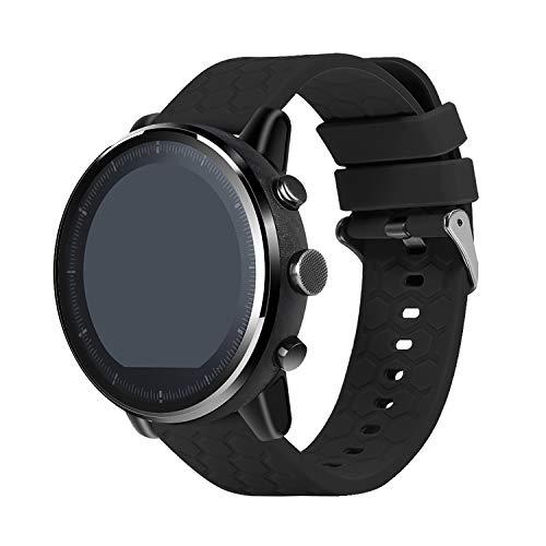 Chofit Correas compatibles con LETSCOM Smartwatch Strap Soft Sport Reemplazo de silicona pulsera reloj accesorio para LETSCOM Smartwatch (negro)
