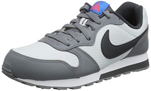 Nike Mädchen Md Runner 2 (Gs) Laufschuhe, Grau (Pure Platinum/Anthracite/Cool Grey 015), 37.5 EU