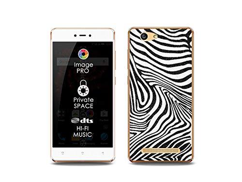 etuo Handyhülle für Allview X3 Soul Lite - Hülle, Silikon, Gummi Schutzhülle Foto Case - Zebra