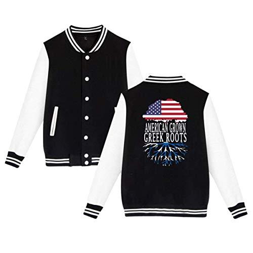 SHIEZZ American Grown Greek Roots Men's Women's Baseball Uniform Jacket Slim Fit Coat