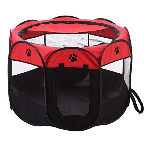 Loopstal honden, vouwen, achthoek, huisdier, draagbaar, hondenhek, kooi, waterdicht, haastent, huisje, zacht, 8-zijdig S 72×72×42cm B