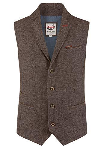 Stockerpoint Herren Leander Business-Anzug Weste, braun, 56