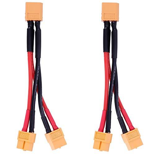 Bostar XT60 Cable de Conector de batería Paralelo Cable de Silicona Divisor en Y de extensión Dual para dji Phantom RC Modo Helicóptero Quadcopter
