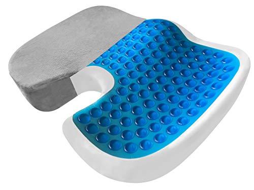 Orthopedic Seat Cushion - EXTRA LARGE FIRM Memory Foam Gel Sitting...