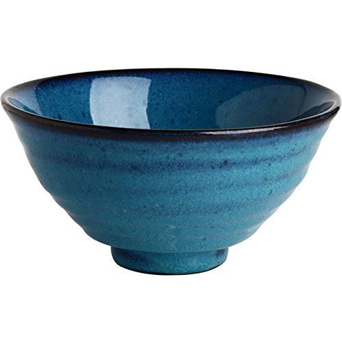 Cuenco de cerámica de Estilo japonés Creativo, Fideos Retro, Ensalada de Frutas, Sopa, Ramen, Cuenco Grande,19cm