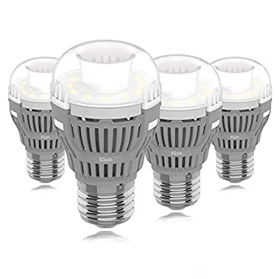 SGLEDS Enclosed Fixture Rated Bulbs, 5000K LED Bulbs,4Pack