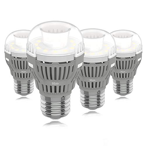 SGLEDS Enclosed Fixture Rated Bulbs, 8W (75W Equivalent LED Bulb), A15 5000K LED Bulbs, Daylight White 800lm Light Bulbs, Indoor and Outdoor, Energy Star, 4Pack
