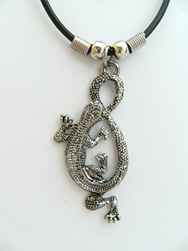 Unbekannt Kette Eidechse Modeschmuck Anhänger Echse Gecko Tier Tiere