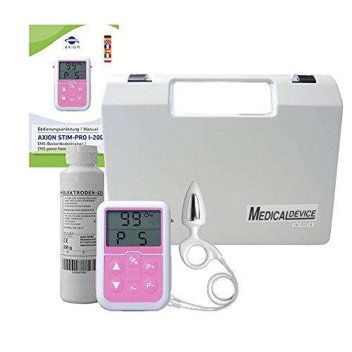 Electroestimulador muscular del suelo pélvico axion para hombres | Set ejercitador | Incluye sonda rectal (anal) y gel de contacto | Para incontinencia y problemas de próstata