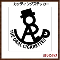 THEORAL オーラル カッティングステッカー (ブラック, 10x10cm 【2枚組】)