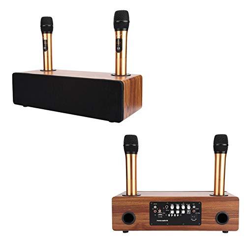 APROTII Kit de sistema de micrófono inalámbrico portátil para Smartphone TV KTV Karaoke Bluetooth condensador micrófono altavoz Home Audio Amplificador