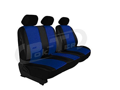 Autositzbezüge, Sitzbezüge Set, Bus 2+1 in Kunstleder passend für T3 in diesem Angeboten BLAU (In 7 Farben bei Anderen Angeboten erhältlich)