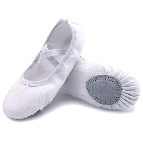 Tela Danza Scarpette Bambina Ballo Suola Cuoio Crosta Scarpe Ballerina Ballo Pantofole Ragazze Ginnastica Balletto Scarpette Ballerina Bianco 41