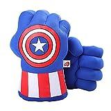 DDGOJUME Big Hulk Smash Hands, 1 par de Guantes de Boxeo Suaves de Hulk, Disfraz de Felpa de puño para niños y Adultos (Blue)