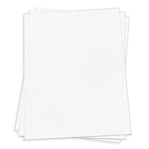 Pure White Card Stock - 12 x 18 LCI Felt 100lb Cover, 25 Pack