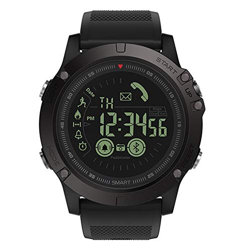OSYARD Herren Digital Armbanduhr, Smartwatches,Sportuhren,Fitness-Tracker,Sport Wasserdicht IP67 Uhren Military Casual Elektronischer Intelligente Uhr mit Schrittzähler Alarm Stoppuhr - Schwarz