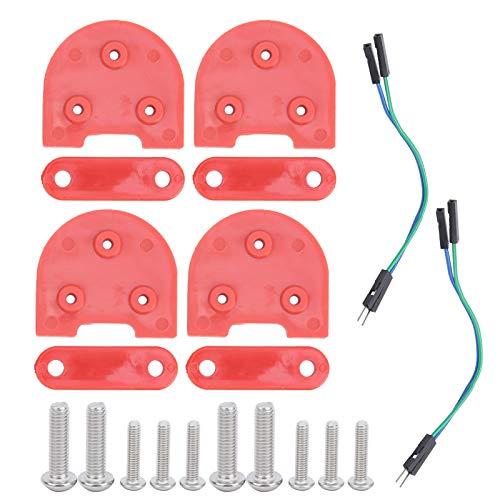 Parafanghi per parafanghi in plastica robusti e stabili, per l'intrattenimento domestico(rosso)