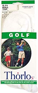Thorlos Unisex G Golf Padded Rolltop Sock, White, Medium