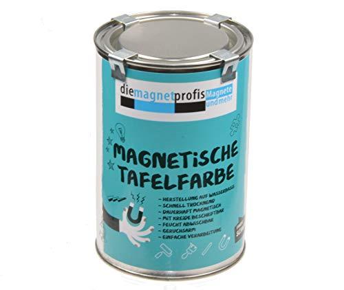 2 in 1 Magnetische Tafelfarbe, matt, magnetisch, extreme Haftkraft, allergikerfreundliche Wandfarbe für innen, ohne Konservierungsmittel schwarz, 1 Liter 3 Magnete/Lieferung
