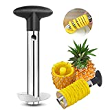 Stainless Steel Pineapple Core Remover Tool for Home & Kitchen with Sharp Blade for Diced Fruit Rings All in One Pineapple Tool Peeler Slicer cut pineapple quick and easy without a knife