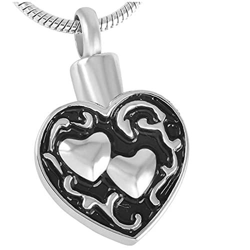 Ysain Urna Collar Cenizas Two Heart Together Forever Memorial Jewelry Collares Y Colgantes De Urnas De Cremación Porta Cenizas De Hueso