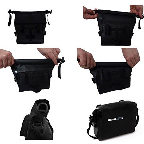 BTR Wasserfeste Allwetter Lenkertasche für jedes Fahrrad mit Abnehmbaren Schultergurt. Fahrradtasche Wasserdicht Lenkertasche Fahrrad Wasserdicht - 4