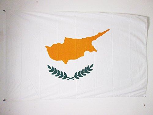 AZ FLAG Flagge ZYPERN 150x90cm - ZYPRIOTISCHE Fahne 90 x 150 cm Aussenverwendung Metallösen - flaggen Top Qualität