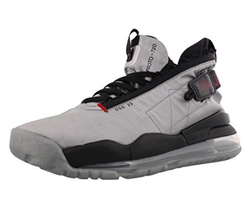 Nike Herren Jordan Proto-MAX 720 Gymnastikschuh, Metallic Silver Gym Red Black, 41 EU