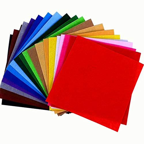 Filzstoff, 40 Farben Bastelfilz Farbig Filz Blätter Kinder Vliesstoff Stoff Filzplatten zum DIY Handwerk Nähen Projekte (15cm*15cm)