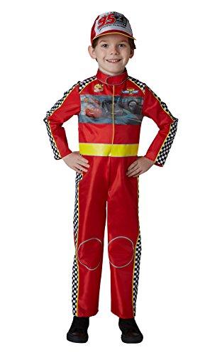 Cars - Disfraz de piloto Rayo McQueen Deluxe para niño, infantil 5-6 años (Rubie's 640055-M)
