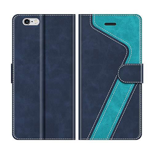 MOBESV Handyhülle für iPhone 6S Plus Hülle Leder, iPhone 6S Plus Klapphülle Handytasche Case für iPhone 6S Plus/iPhone 6 Plus Handy Hüllen, Blau